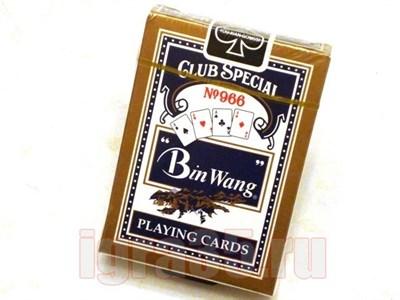 Карты для покера. Bing Wang (черные) - фото 16607
