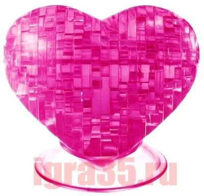 Паззл 3D. Crystal Puzzle Сердце (розовое) - фото 17574