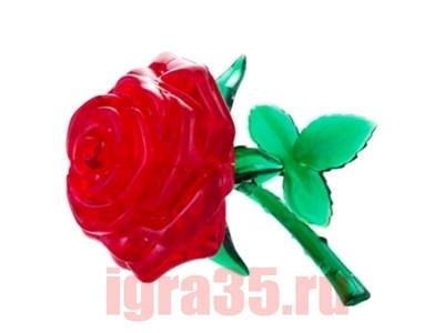 Паззл 3D. Crystal Puzzle Роза (красная) - фото 17578