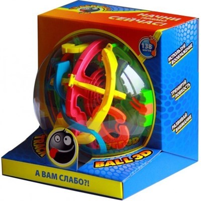 Лабиринт 3D Track Ball 19 см (138 шагов) - фото 17586