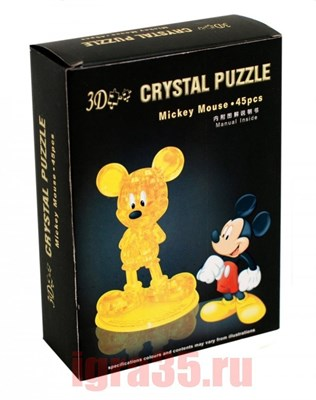 Паззл 3D. Crystal Puzzle Микки Маус - фото 17834
