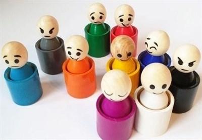 Радужные человечки (эмоции) 10 шт. - фото 20447