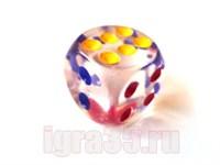 Кубик шестигранный (Зарик) прозрачный