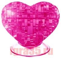 Паззл 3D. Crystal Puzzle Сердце (розовое)