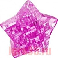 Паззл 3D. Crystal Puzzle Звезда (розовая)