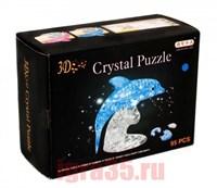 Паззл 3D Crystal Puzzle Дельфин (голубой)